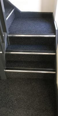 Hard-wearing Commercial Carpeting throughout - Supreme Velour Contract - Colour: Anthracite.